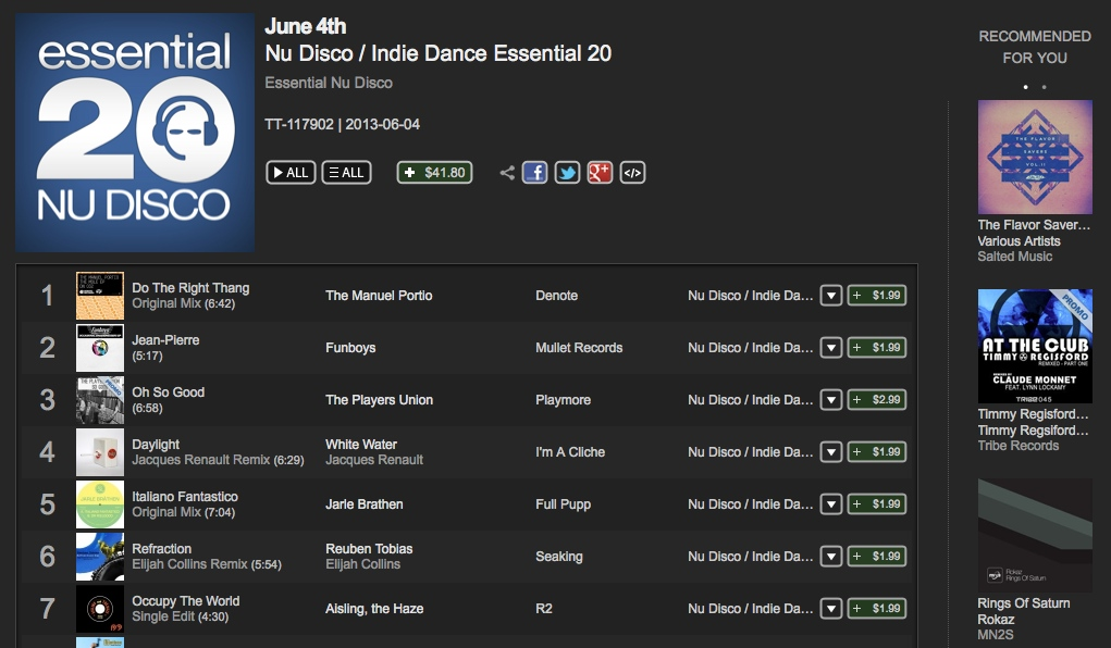 The Mole EP Essential 20 Traxsource