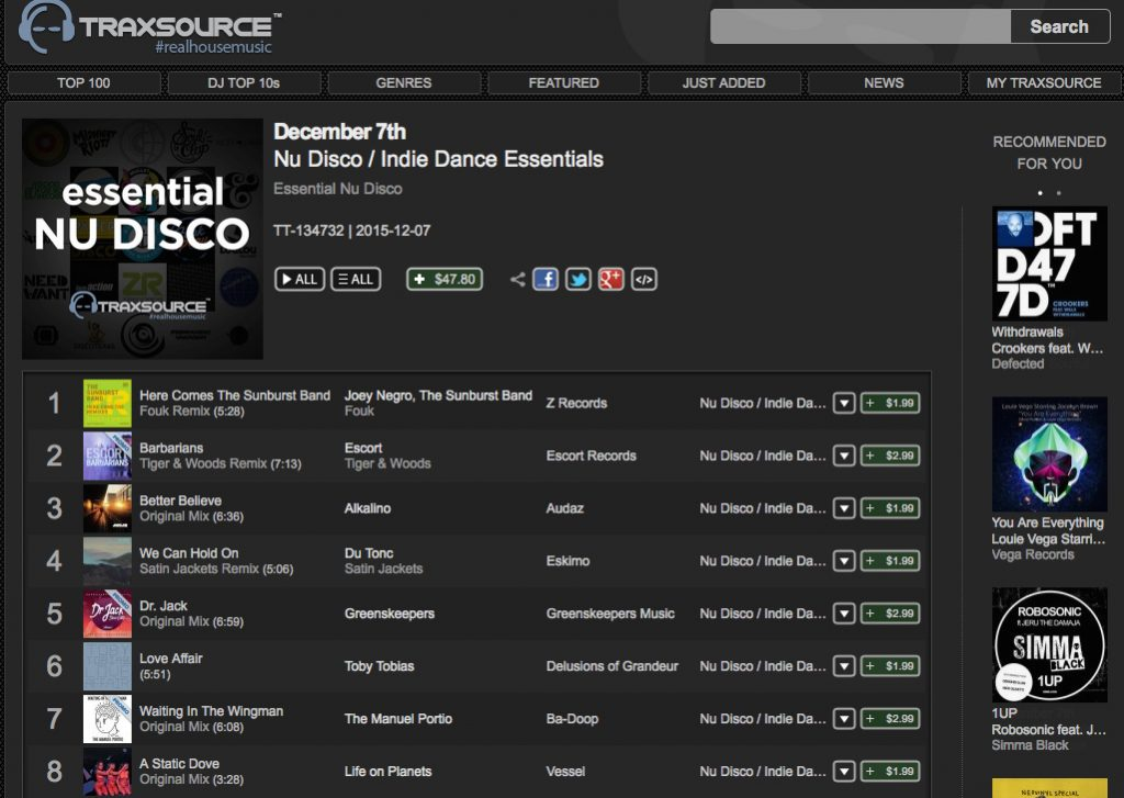 wingman nudisco essential chart