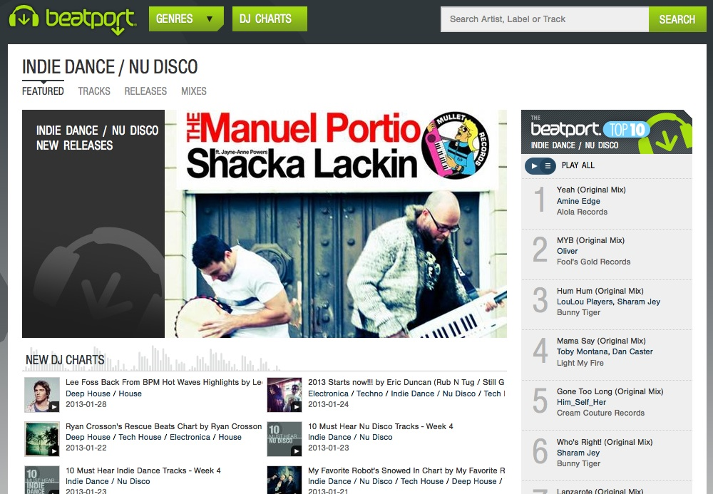 Shack-Lackin Front Page Beatport
